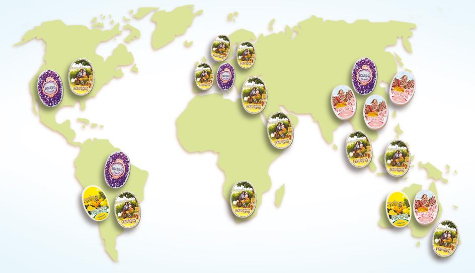 Anis bonbons auf der ganzen Welt